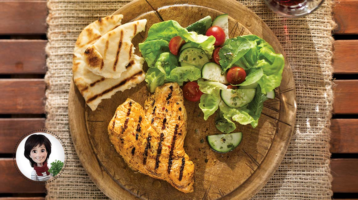 Barbecued turkey breasts