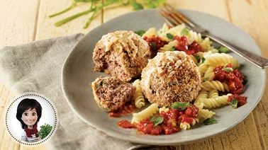 Polpette and tomato sauce by Josée di Stasio