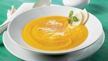 Parsnip, sweet potato, and Asian pear soup