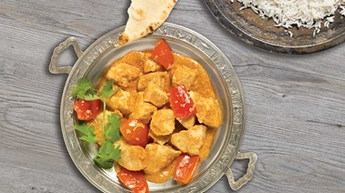 Slow-cooked spicy Indian chicken
