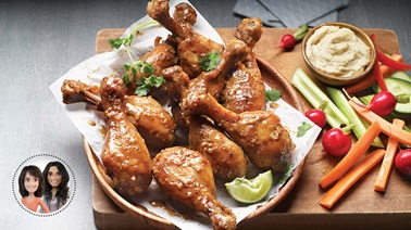 Slow cooker honey-mustard drumsticks from Alexandra Diaz and Geneviève O'Gleman