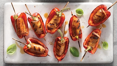 Stuffed Grilled Pepper Skewers