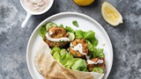 Falafel Pitas with Tahini and Yogurt Sauce