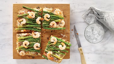 Shrimp and Asparagus Pizza