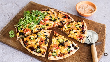 Pizza au poulet tex-mex