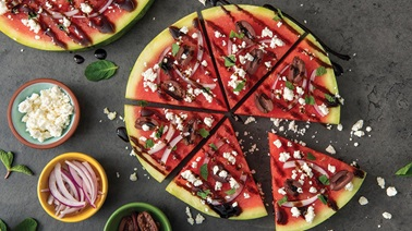 Savoury Watermelon Pizza