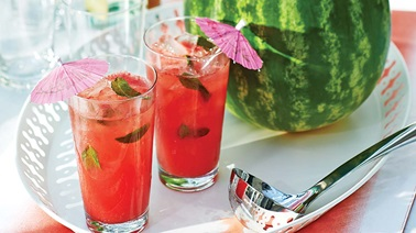 Sparkling watermelon punch