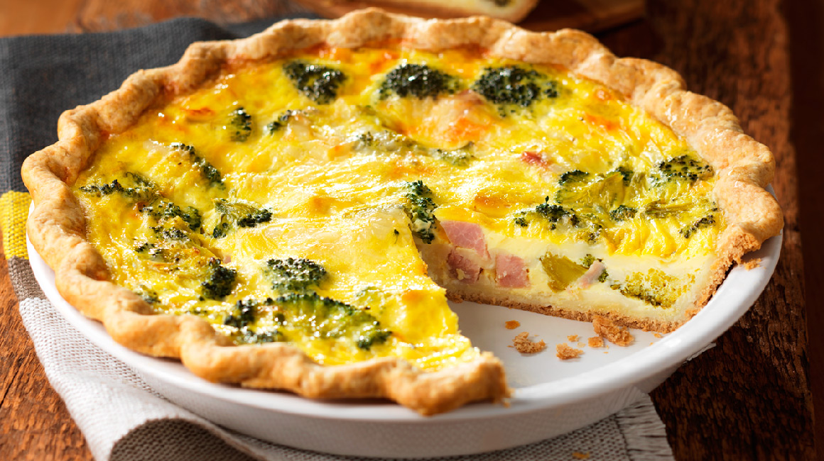 quiche au jambon et au brocoli recettes iga fromage. Black Bedroom Furniture Sets. Home Design Ideas