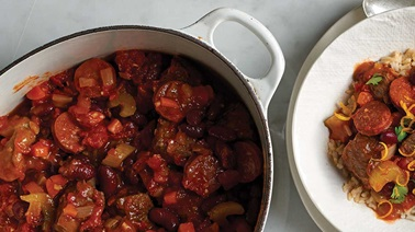 Brazilian-style pork, chorizo, and black bean stew recipe