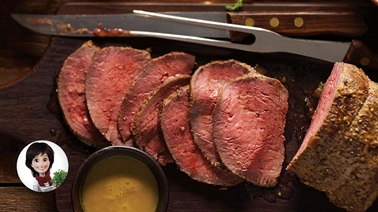 Roast beef with gravy from Josée di Stasio