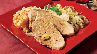Roast pork and cabbage