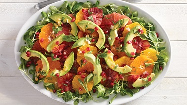 Citrus & Avocado Salad with Citrus-Flavoured Dressing