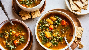 Lentil and butternut squash soup by Geneviève O'Gleman
