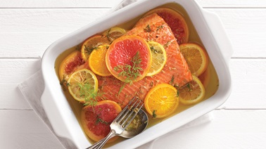Salmon Confit with Citrus and Olive Oil