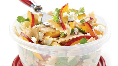 Goat cheese and nectarine salad