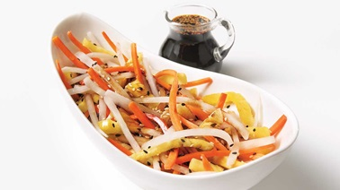 Asian Daikon, Carrot and Pineapple Salad