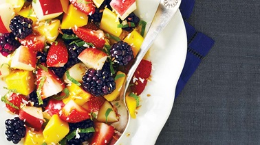 Minty fresh fruit salad