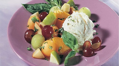 Fruit Salad with Basil and Ginger