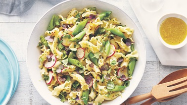 Roasted Garlic Pasta Salad with Fresh Herbs