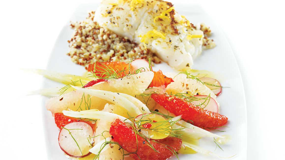 Pomelo and fennel salad