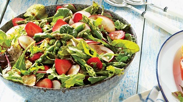 Strawberry, asparagus, and radish summer salad