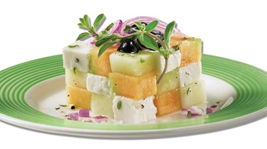 Melon and Feta Greek Salad