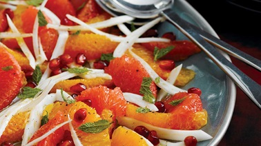 Pomegranate, fennel & orange salad