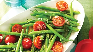Green bean & cherry tomato salad