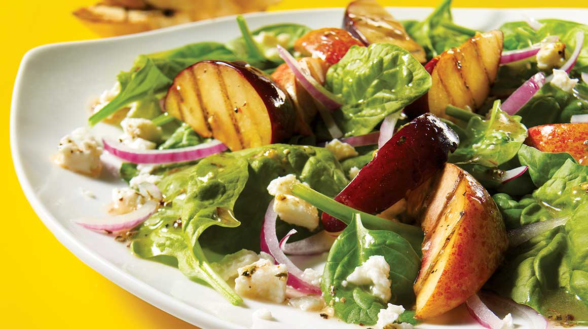 Warm Grilled Plum and Nectarine Salad