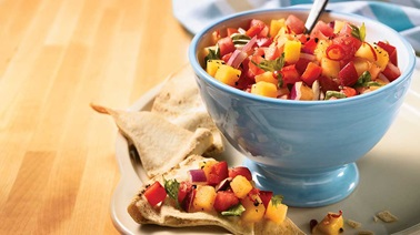 Two-melon salsa