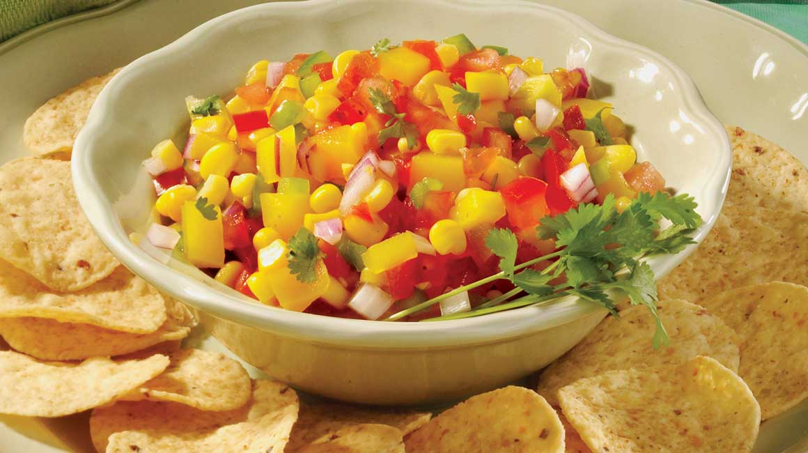 Mexican Salsa with Corn and Mango