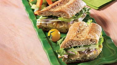 Chicken and apple sandwich