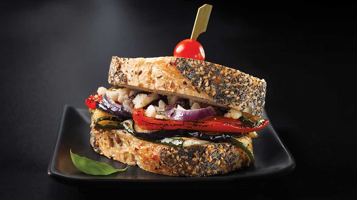 Grilled vegetable sandwiches