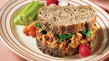 Tuna and sundried tomato sandwich