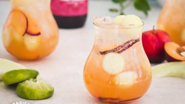 Non-Alcoholic Pink Sangria by Monsieur Cocktail
