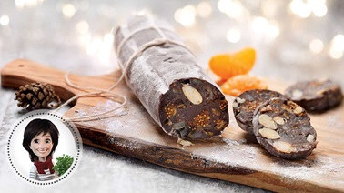 Chocolate sausages from Josée di Stasio