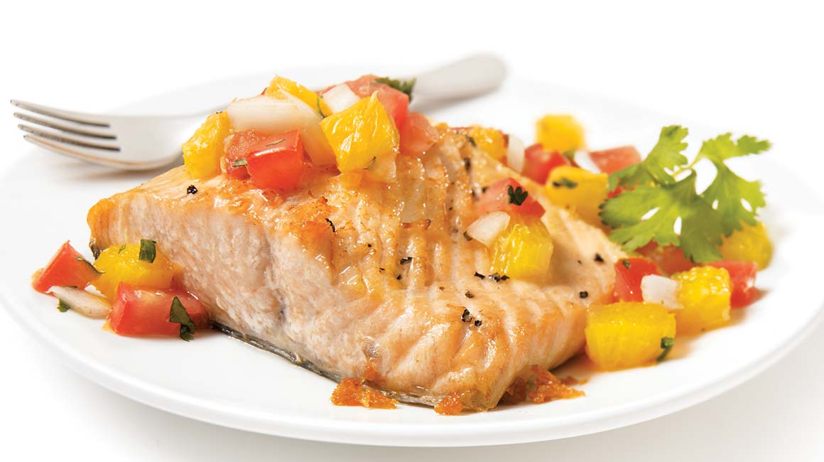 grilled salmon