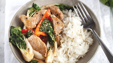 Zesty pork & veggie stir-fry