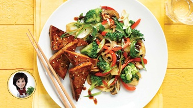Asian-style vegetable & tofu stir-fry from Josée di Stasio