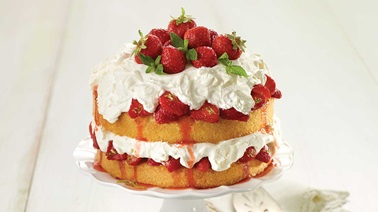 Strawberry-lime shortcake with mascarpone cream