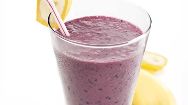 Chocolate-blueberry smoothie