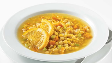 Split pea and orange soup