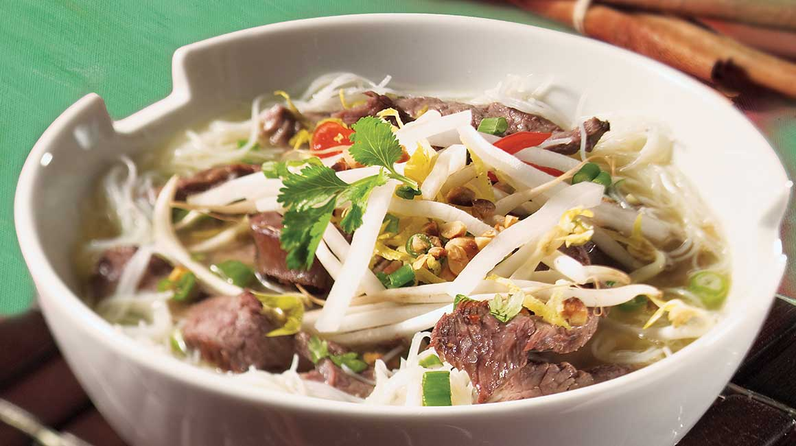 Asian Beef and Coriander Soup Meal