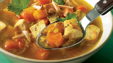Middle Eastern chicken meal-soup