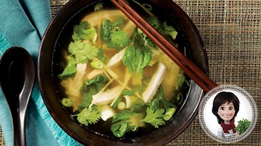 Thai-style chicken meal-soup from Josée di Stasio
