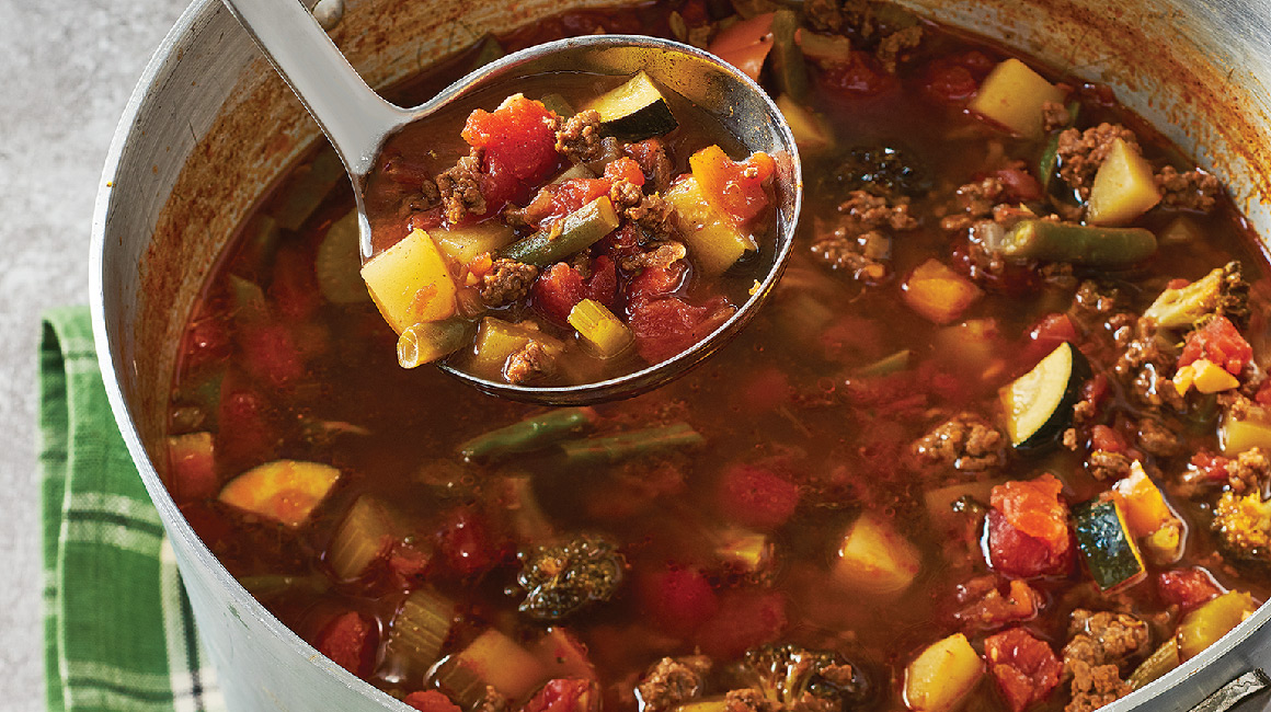 Kitchen Sink Hamburger Vegetable Soup | IGA Recipes |
