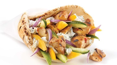 Maui chicken souvlaki