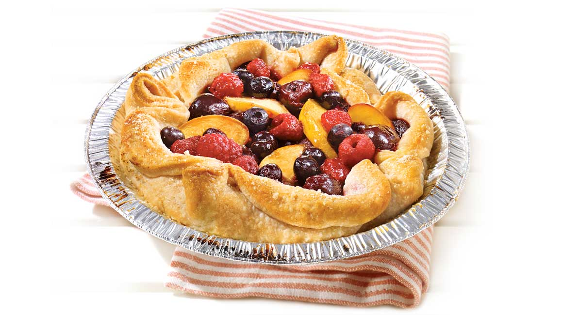 Barbecued fruit pie