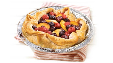 Tarte aux fruits sur le barbecue