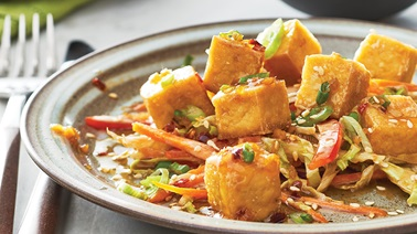 Crispy Tofu with Soy Ginger Dipping Sauce